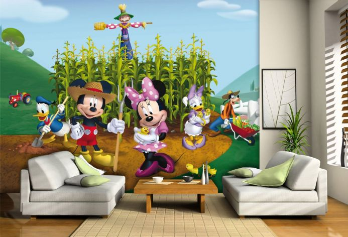 Disney Mickey Mouse Farm Premium wall murals | Buy it now